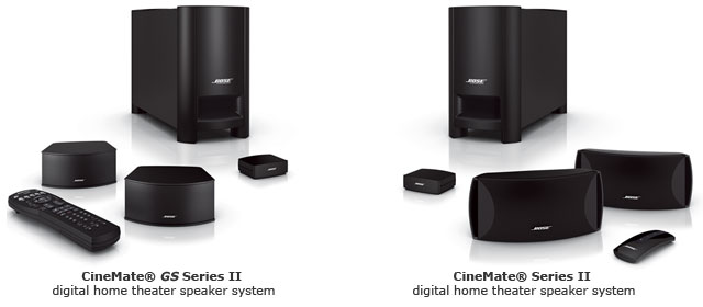Cinemate GS Series II and Cinemate Series II systems