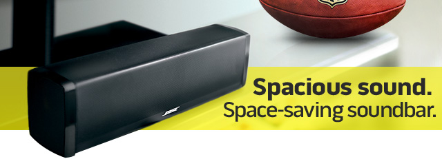 Spacious sound. Space-saving soundbar